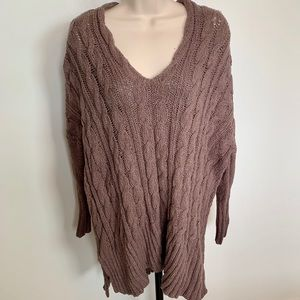 Free People Oversize Cable Knit Sweater
